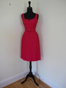 Image of 60s magenta cocktail dress