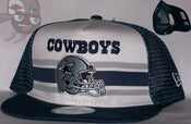 Image of Dallas Cowboys Two Tone Mesh Trucker Snapback Hat Cap