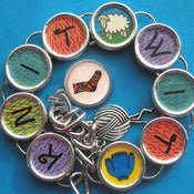 Image of Knitting Themed Bracelet for Knitters