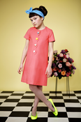 Image of Coral Bubble Dress