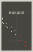 Image of The Usual Suspects minimalist movie poster