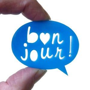 Image of &quot;Bonjour&quot; Brooch