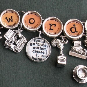 Image of Got Words Charm Bracelet for Writers