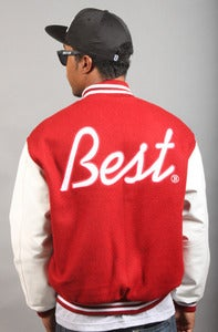 Image of BEST Letterman B Jacket Cardinal