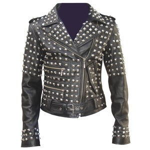 Image of Studded Leather Jacket