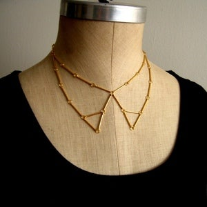 Image of Tipped Peter Pan Collar Necklace