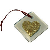 Image of Gold Heart Small Hanging