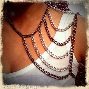 Image of Madison Chain Shoulder Harness Necklace