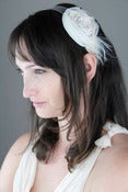 Image of Tea Stained Chiffon Flower Headband
