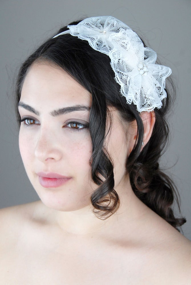 Image of Lace Flower Duo Headband