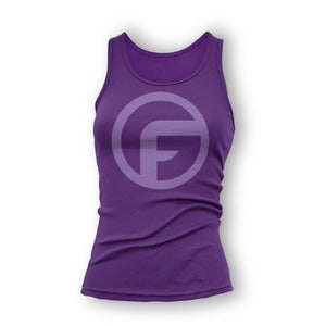 "Image of Ground Fighter ""The Icon"" Shirt - Purple (Womens)"