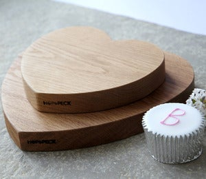Image of Oak Heart Chopping boards (Pair)
