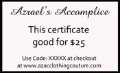 Image of $25 Gift Certificate for $15