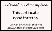 Image of $100 Gift Certificate for $75