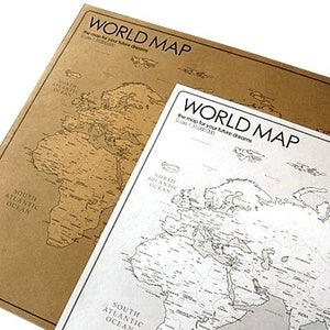 Image of Kraft+White travel world map