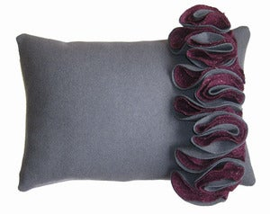 Image of Lorna Syson: Ruffle Cushion Mulberry