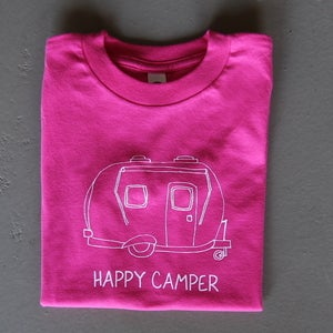 Image of Pink Happy Camper Children's Tee