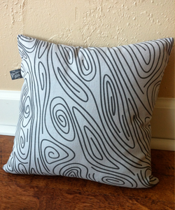 Image of Faux Woodgrain Pillow