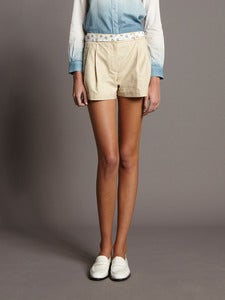 Image of Double Hem Shorts with Ribbon Belt<br>- was £135 -