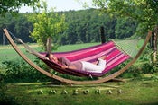 Image of AMAZONAS Starset candy  Weatherproof hammock and wooden stand set