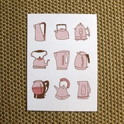 Image of Teapots - Cappuccino &amp; Rose Hand-Pulled Screenprint
