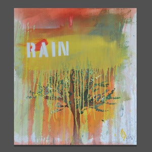 Image of rain 24 x 30