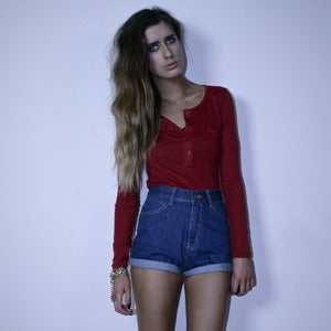 Image of Long Sleeve Deep Red Top
