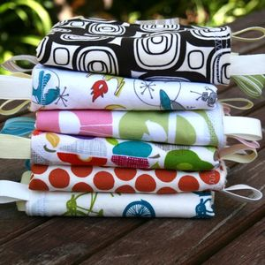 Image of ORGANIC Simply Sweet Ribbon Blankies - GIRL Colors