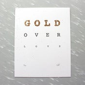 Image of Gold Over Love Print