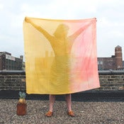 Image of COLORBLOCKS Scarf Coral/Gold