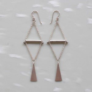 Image of Bright Silver Triangle Earrings