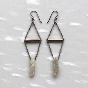 Image of Kyanite Spear Earrings