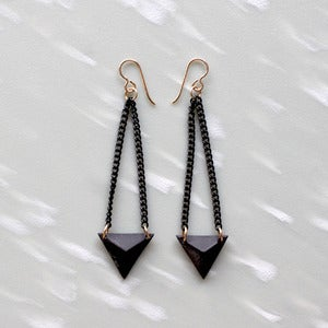 Image of Black Prism Earrings