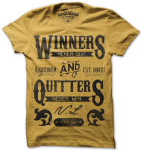 Image of WINNERS NEVER QUIT - GOLD