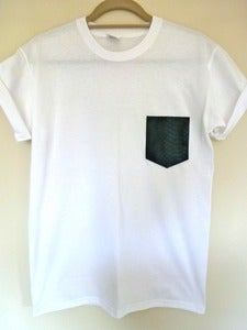 Image of Faux Snakeskin Pocket Effect Tshirt