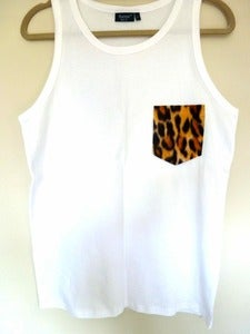 Image of Leopard Pocket Effect Vest