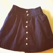 Image of Navy blue skirt