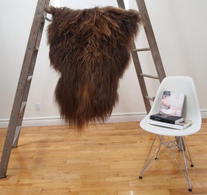 Image of Large Brown Icelandic Sheepskin BR-001
