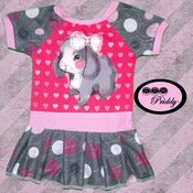Image of Sparkly Bunny Dress - Size 6-12 months