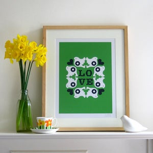Image of Flock Screen Print | Green  {20% OFF + FREE SHIPPING}