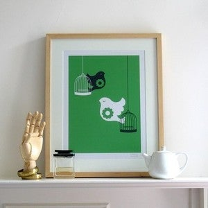 Image of Free as a Bird Screen Print | Green