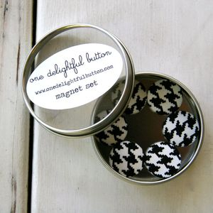 Image of Houndstooth Magnets - Set of 6