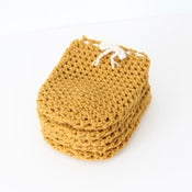 Image of Wine Bottle Cozy in Honey Mustard (Set of 5)