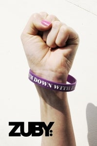 Image of Team Zuby Wristband - Purple/White