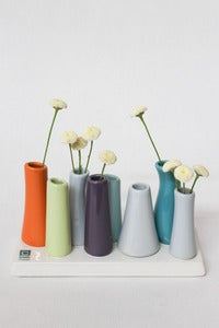 Image of Pooley2 Flower Bud Vase - Orange/Teal