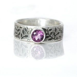 Image of African Violet Sterling Silver Amethyst Ring