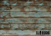 Image of &quot;Turquoise Distressed Wood&quot; - NEWEST Faux Flooring Rug  - 46inx66in - Photographer MUST HAVE