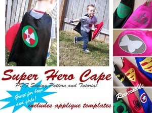 Image of Super Hero Cape PDF Sewing Pattern