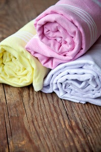 Image of Sol Bellow cotton turkish towel - sorbet colours
