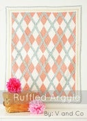 Image of Ruffled Argyle Quilt-PAPER PATTERN by V and Co
